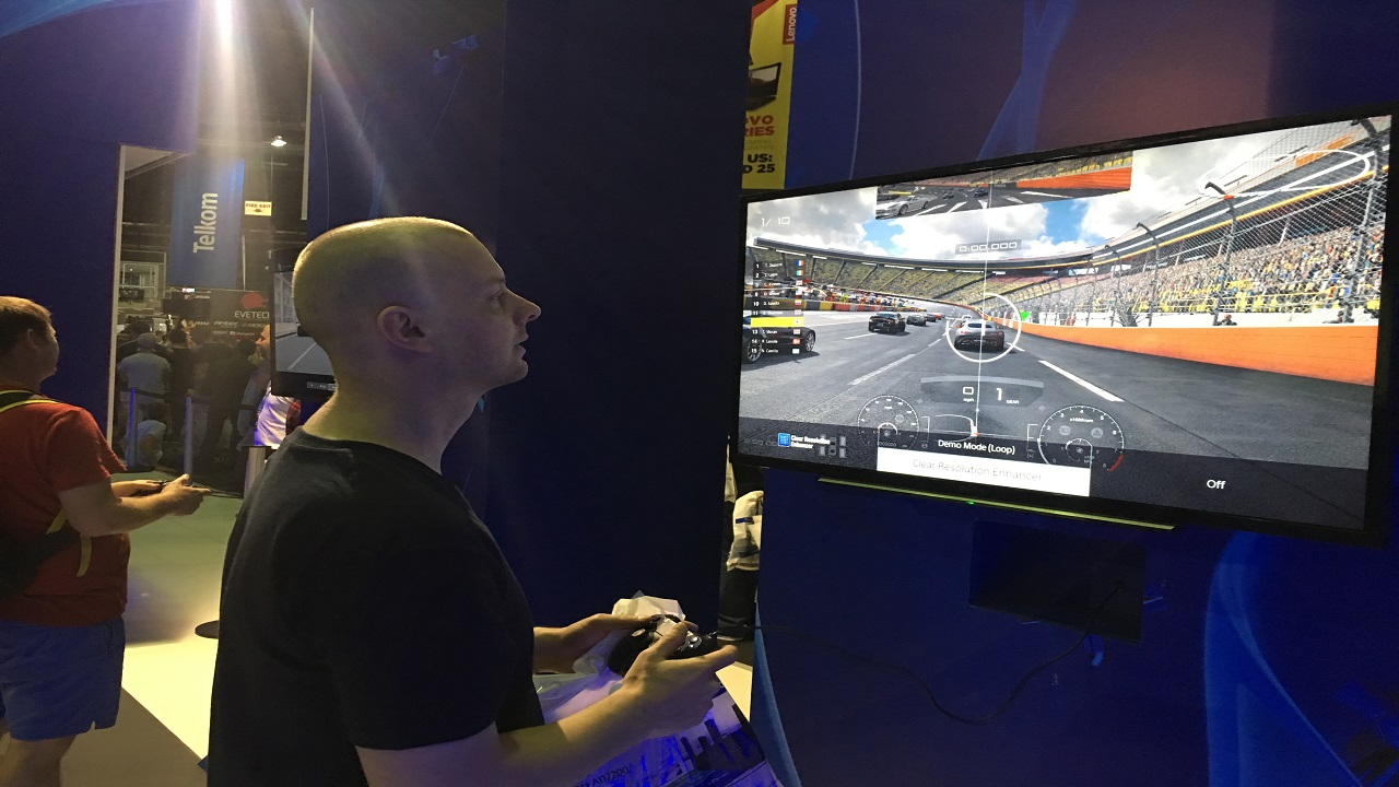 Our Team member trying his hand at GTS, and failing to hit the apex!