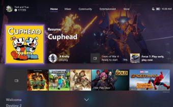 Xbox One dashboard update