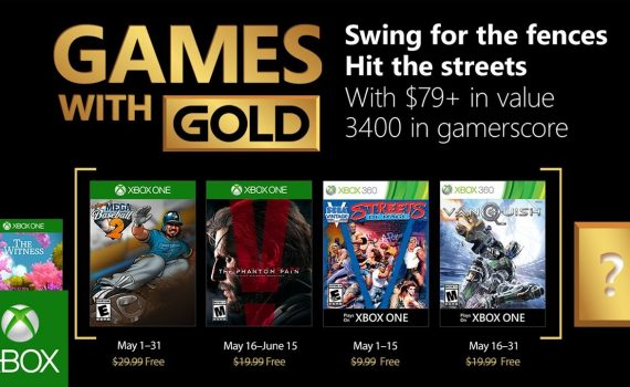Xbox Games with Gold May 2018