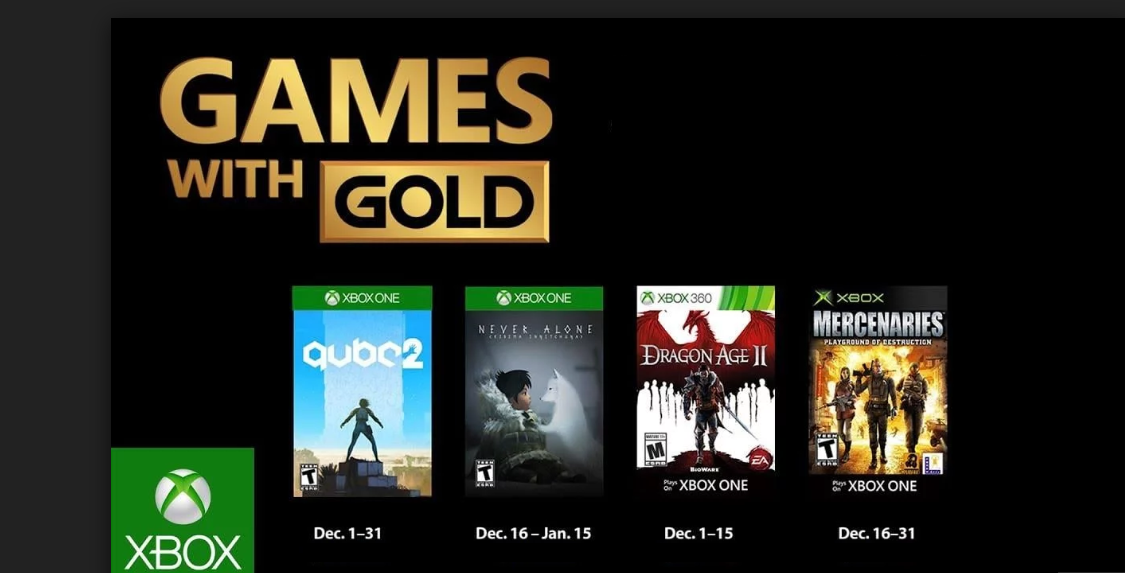Xbox Games with Gold December revealed