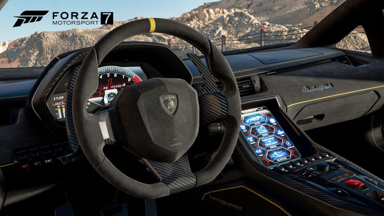Lamborghini Aventador into a Forza Motorsport 7 controller