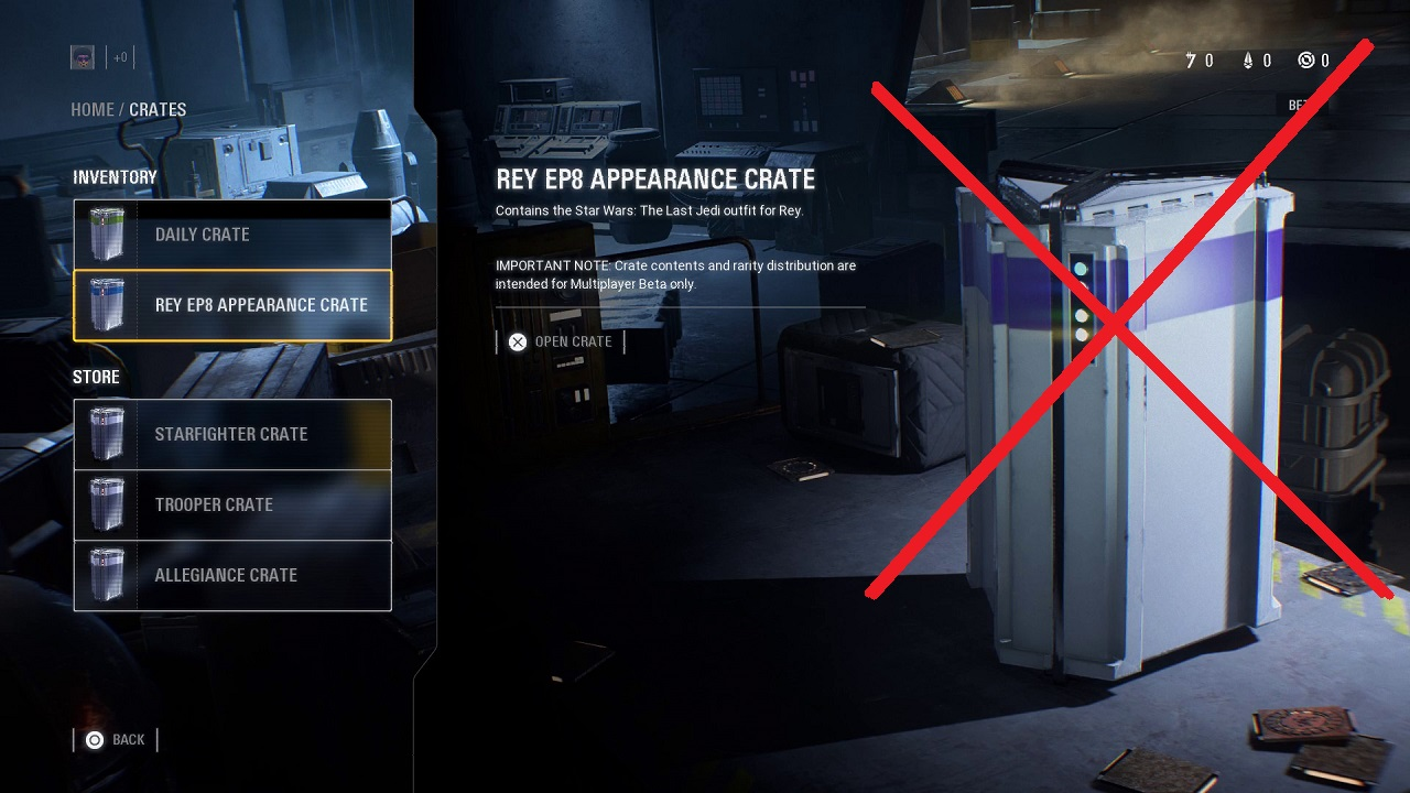 Star Wars Battlefront II Loot Crate Problem