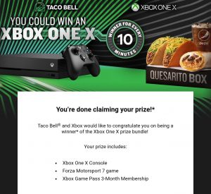 taco bell xbox one x giveaway taco bell xbox one x competition giveaway 8476
